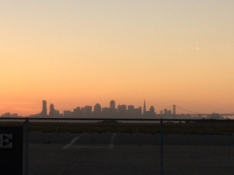 San Francisco Skyline from Hangar One Factory